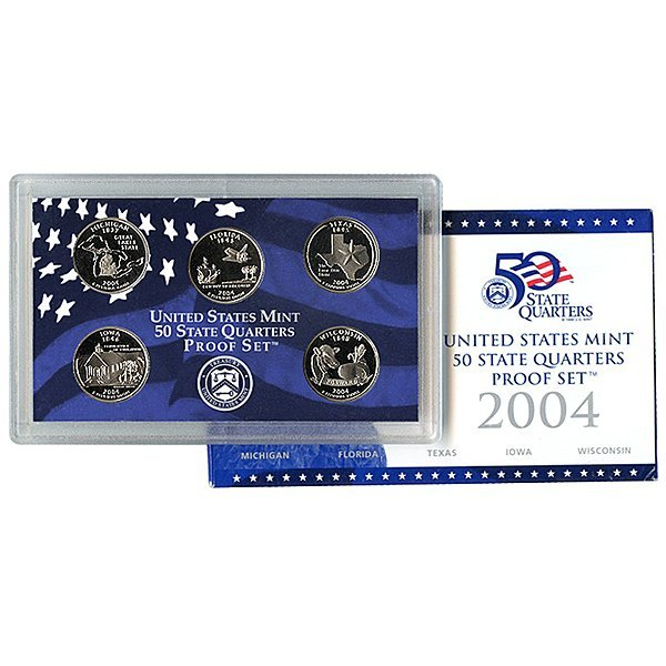 2004-S United States Quarter 5-Coin Proof Set