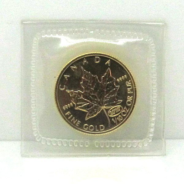 1/10 Oz BU 24k Gold Canadian Maple Leaf - Random Date!