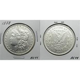 1878 7TF Morgan Dollar Reverse of 1878 - #AC44