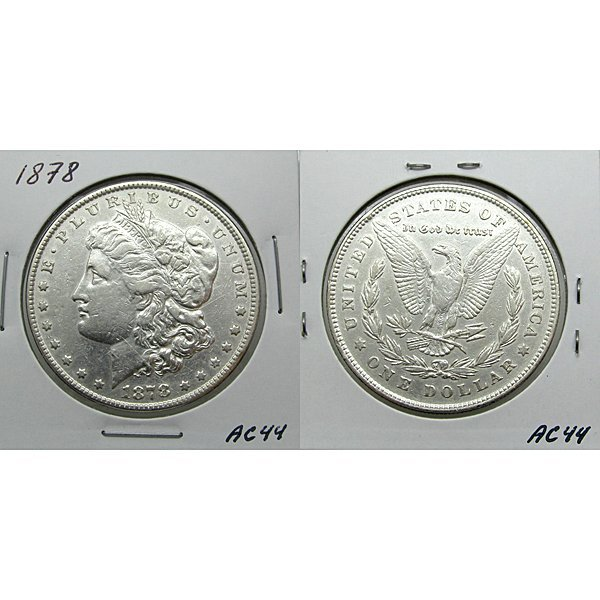 1878 7TF Morgan Dollar Reverse of 1878 - #AC44
