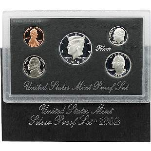 1992-S United States Mint Proof Silver Set