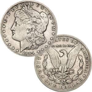 1884-CC $1 Morgan Dollar - Very Good