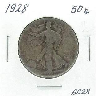 1928-S Silver Walking Liberty Half Dollar #AC28