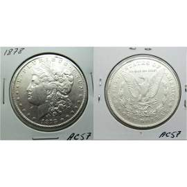 1878 7TF Morgan Dollar Reverse of 1878 - #AC57