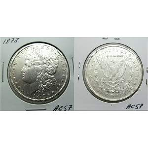 1878 7TF Morgan Dollar Reverse of 1878 - #AC57