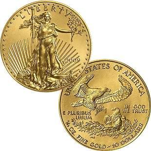 1/4 Oz Gold American Eagle - Brilliant Uncirculated
