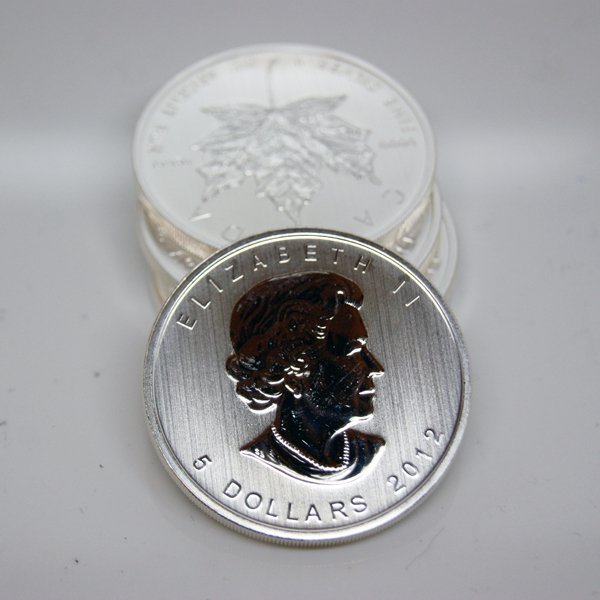 (5) Silver Maple Leafs - Brilliant Uncirculated