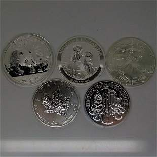 5 Country Coin Set CNY,AUD,USD,CAD,EUR