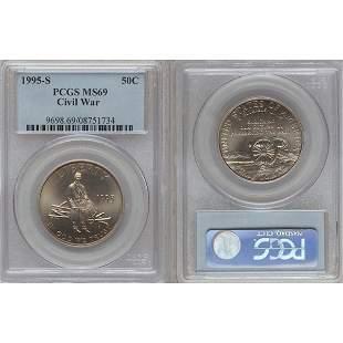1995-S Civil War Half Dollar MS69 PCGS