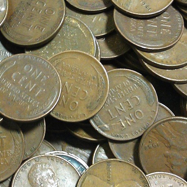 50 pc Lincoln Wheat Cents