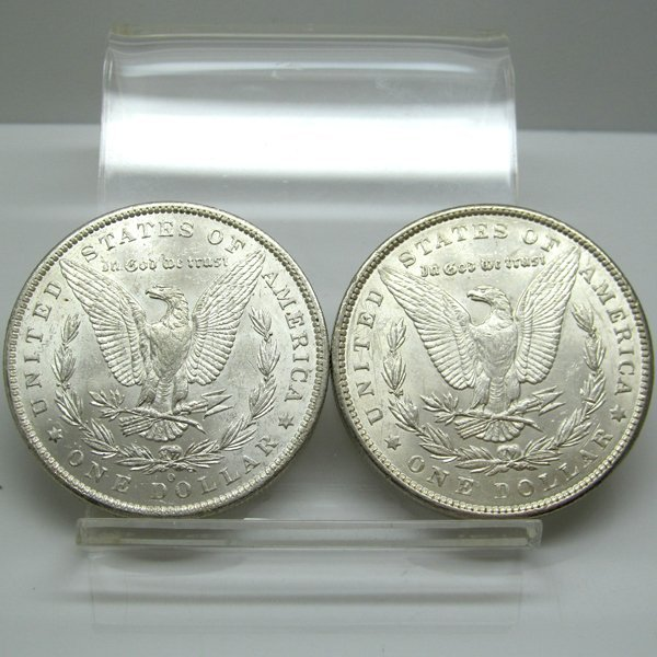 2-Coin Set: Morgan Silver Dollars - Uncirculated - 2