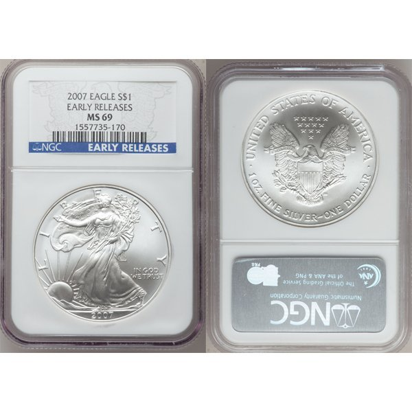 2007 Eagle Early Release MS69 NGC - Blue Label