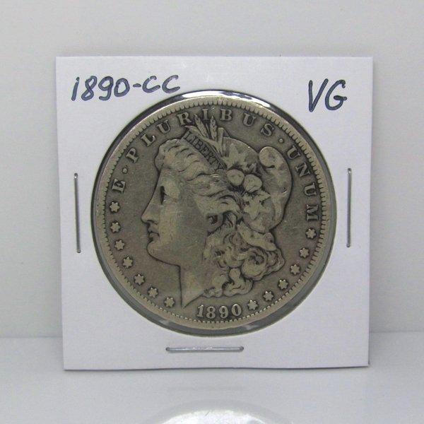 1890-CC $1 Morgan Dollar - Very Good