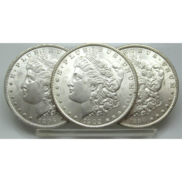 3-Coin Set: Morgan Silver Dollars - Uncirculated