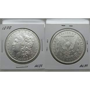 1878 7TF Morgan Dollar Reverse of 1878 - #AC39