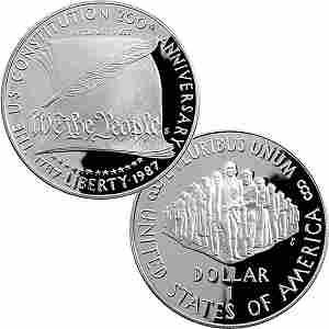 1987-S Constitution Bicentennial Proof Silver Dollar