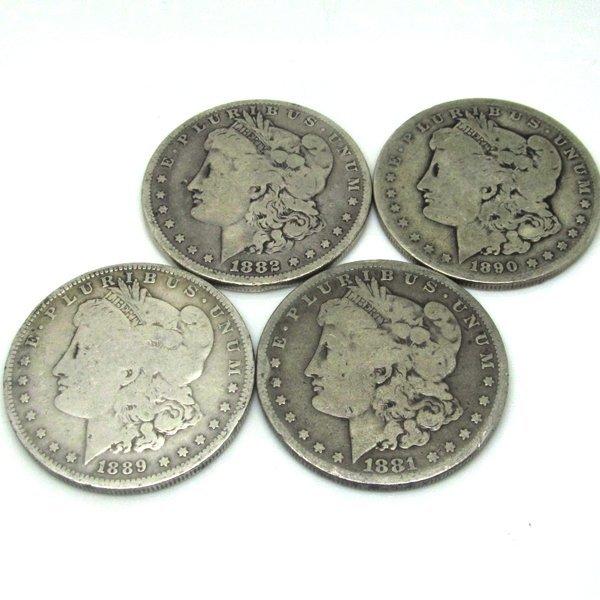 4-Coin Set: Morgan Silver Dollars