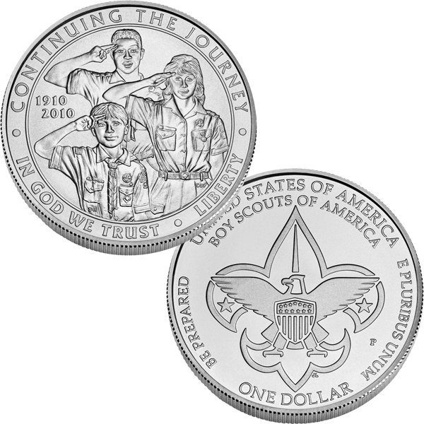 2010-P Boy Scouts Silver Dollar - Uncirculated