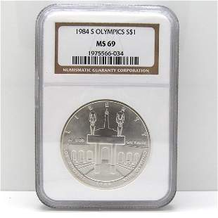 1984-S Olympic Silver Dollar MS69 NGC