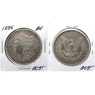1896 Morgan Dollar - Almost Uncirculated #AC95
