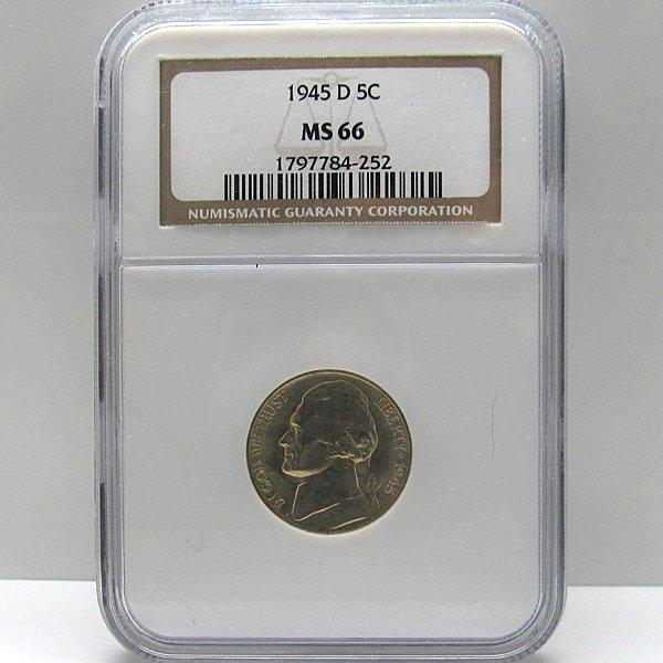 1945-D Jefferson War Nickel MS66 NGC