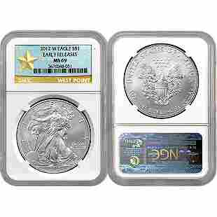 2012-W Eagle Early Release MS69 NGC Star Label