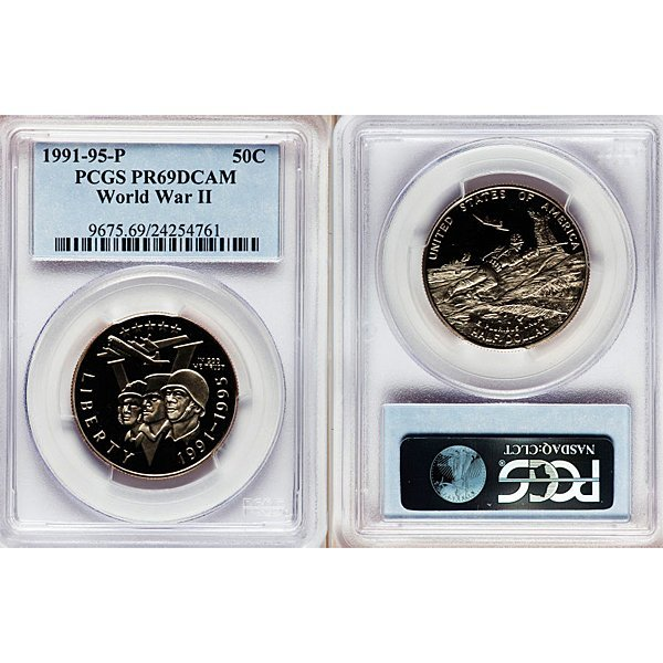 1991-1995-P World War II Half Dollar PR69 PCGS