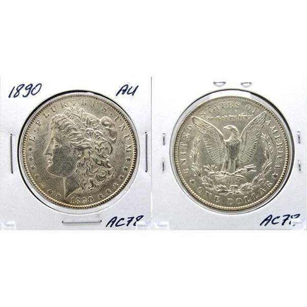 1890 Morgan Dollar - Almost Uncirculated #AC78