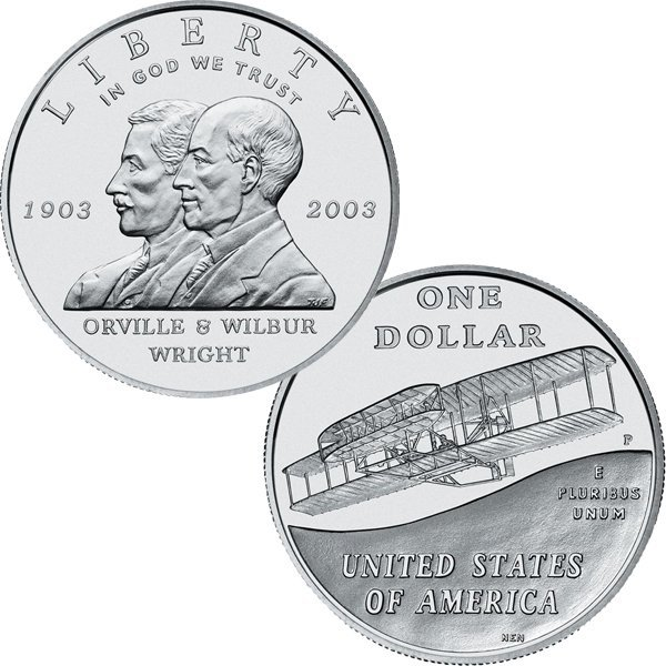 2003-P First Flight Centennial Silver Dollar - Unc