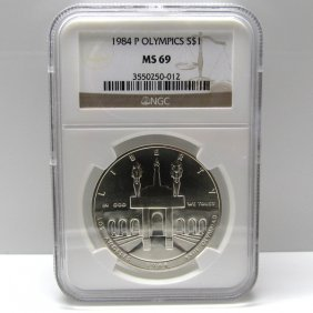1984-P Olympic Silver Dollar MS69 NGC