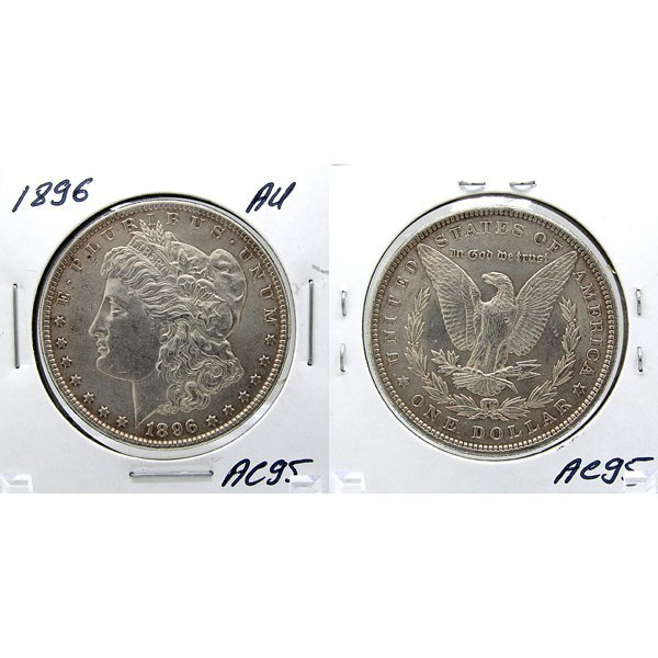 1896 Morgan Dollar - Almost Uncirculated #AC95