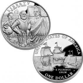 2007-P Jamestown 400th Anniv Proof Silver Dollar