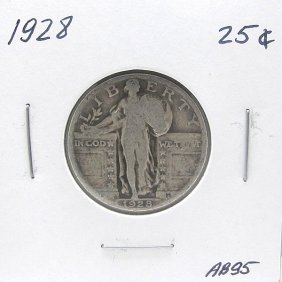 1928 Standing Liberty Quarter 90% Silver #AB95