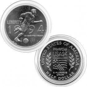 1994-D BU World Cup Half Dollar - in Capsule