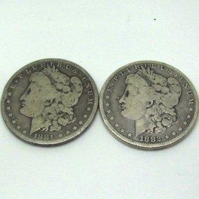 2-Coin Set: Morgan Silver Dollars