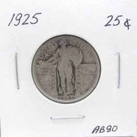 1925 Standing Liberty Quarter 90% Silver #AB90