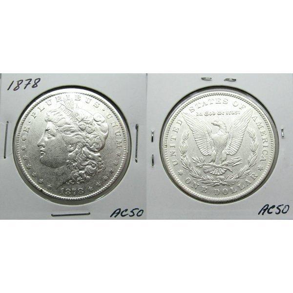 1878 7TF Morgan Dollar Reverse of 1878 - #AC50
