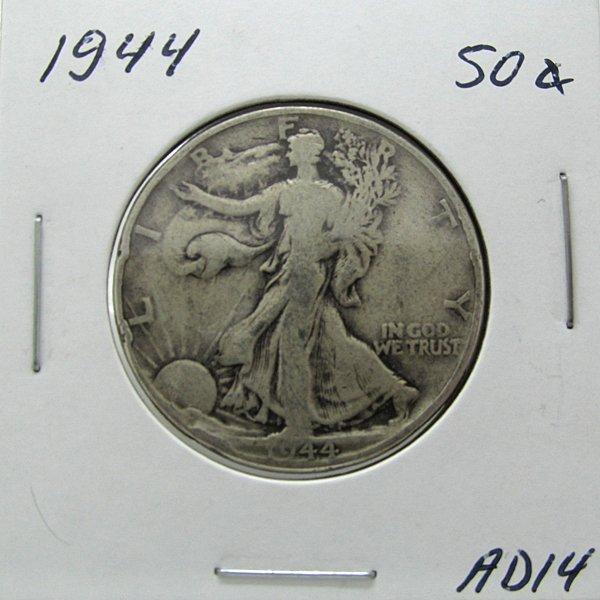 1944 Silver Walking Liberty Half Dollar #AD14