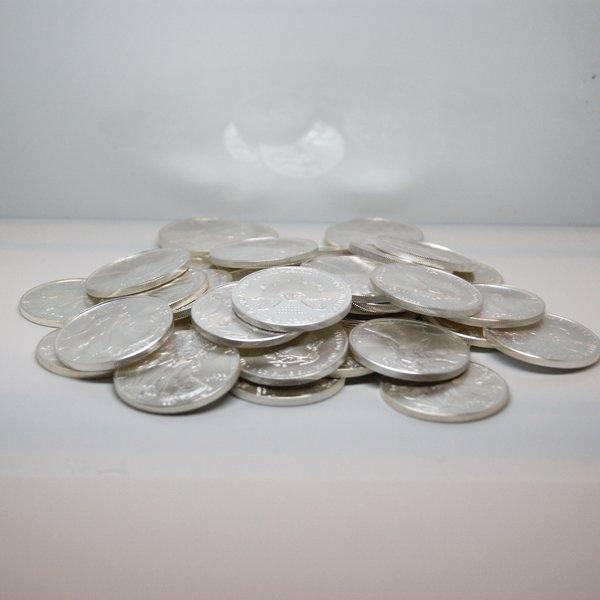 (100) Silver American Eagles - Brilliant Uncirculated