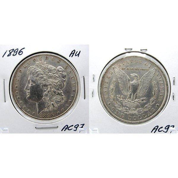 1896 Morgan Dollar - Almost Uncirculated #AC97