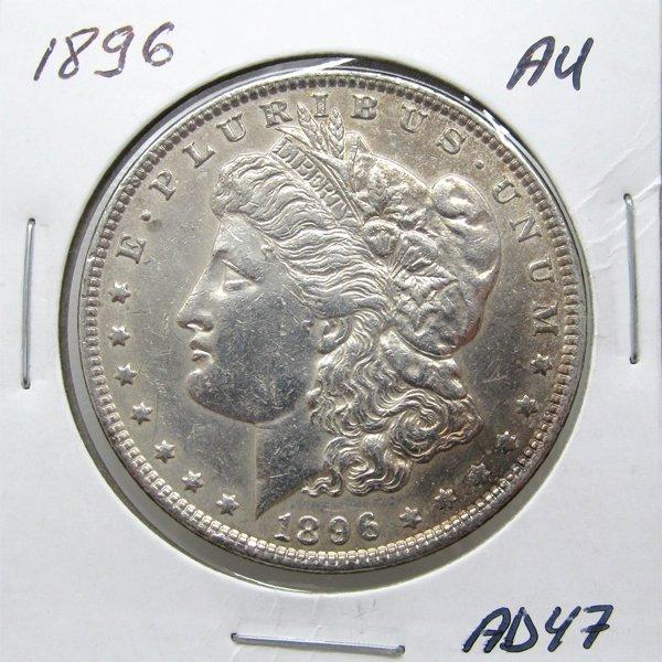 1896 Morgan Dollar - Almost Uncirculated #AD47