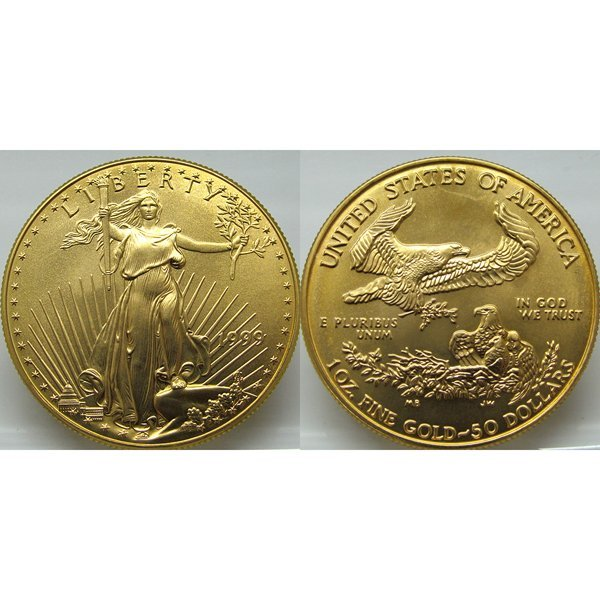 1 Oz Gold American Eagle - Brilliant Uncirculated