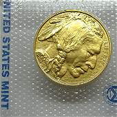 1 Oz 24k Gold Buffalo - Brilliant Uncirculated
