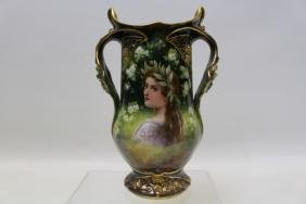 Royal Bonn Germany Portrait Vase - Lady's Profile