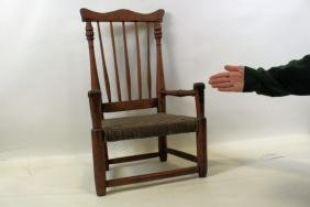 Child's Early 19th C Windsor Spindle Back Side Chair