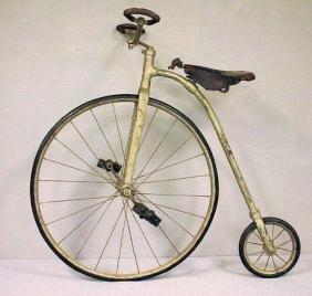 Child's High-Wheeled Bicycle w/ Rare Handgrips