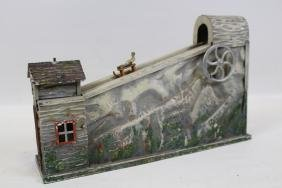 Tin Steam Toy - Sleds on Mountain - Germany