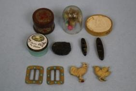 Group of 19th C Miniature Jars & More