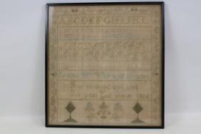 1826 Needlework Sampler