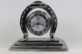 1930s Lux Good Luck Horseshoe Alarm Clock